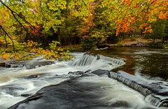 Bond Falls Framed in Autumn (Cole Chase Photography) Tags: autumn fall canon michigan 5d upperpeninsula bondfalls paulding markiii upperbondfalls