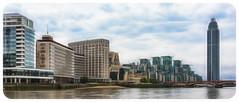 Vauxhall Embankment & MI6, London (P Sterling Images) Tags: trip london art thames skyscraper photoshop buildings river lens boat secret sony sigma cc filter service f18 embankment vauxhall a77 mi6 1835mm fractalius