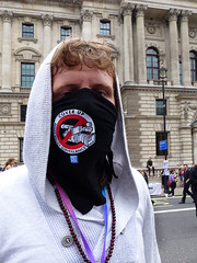 Cover Up Face Protester (Kombizz) Tags: uk portrait people london students youth education union parliamentsquare nhs peacesign protester conservativeparty protesters houseofparliament coverup bankofengland pensioner publicservices tradeunion prayingbeads nationaldemonstration coverupface kombizz greedybankers thewelfarestate welfareservices governmentsausterity 1100534 netpol defytoryrule endausteritynow peoplesassemblies maskprotester coverupfaceprotester ideologicalwar peoplesassembly thepeoplesassembly resistpolicesurveillance maskprotesterwithpeacesign