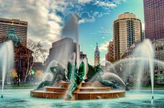 Swann Memorial Fountain [Explored] (Kofla Olivieri) Tags: philadelphia fountain nikon cityhall explore philly logancircle benjaminfranklinparkway adobephotoshopelements explored swannmemorialfountain olivieri kofla topazadjust photomatixprohdr