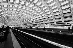 Concrete Underground (sarah_presh) Tags: monochrome station underground mono washingtondc washington metro platform nikond7100