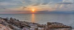 Koh Samed Sunset (Dax Ward Photography) Tags: sunset sea panorama orange beach water thailand vivid luminescence kohsamet oceansunset seasunset thaisunset