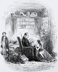 """""""I return to the Doctor's after the party"""" by H. K. Browne from """"David Copperfield"""" by Charles Dickens. London, 1850.  First book edition (lhboudreau) Tags: book victorian books story doctor novel scholar dickens 1850 headmaster charlesdickens hardcover firstedition copperfield personalhistory vintagebook davidcopperfield firstissue phiz vintagebooks youngwife hardcovers vintagenovel vintagestory classicfiction hardcoverbooks hardcoverbook thestrongs classicstory victoriannovel classictale drstrong victorianwriter hablotkbrowne victorianauthor firstbritishedition firstukedition hkbrowne firstbookedition bradburyevans bradburyandevans thepersonalhistoryofdavidcopperfield vintagetale anniestrong"""