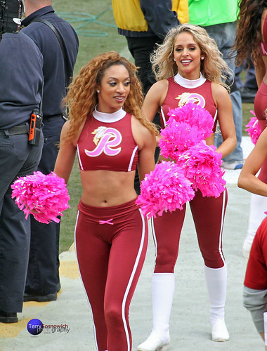 Redskinette Cheerleaders Jaclyn and Heather.