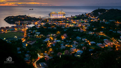 Carnival Cruise Line and an amazing View (Andy Johnson Photos) Tags: longexposure sunset seascape landscape lights nikon perspective sigma grenada slowshutter caribbean andyjohnson proline manfroto mygearandme