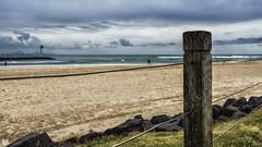 The beach (BAN - photography) Tags: cloud grass sand rocks estuary surfers rockwall hirise wirefence seaocean d810