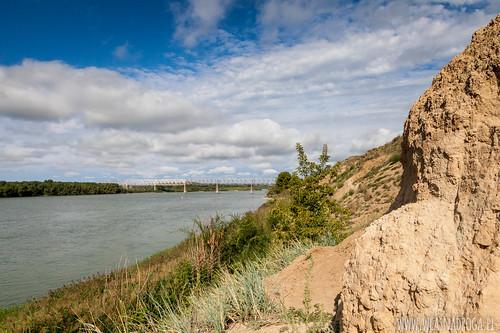Dolina rzeki Irtysz w centrum miasta