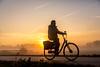 Holland! (Bart Weerdenburg) Tags: zon sun sunrise zonsopkomst fiets bike bicycle vouwfiets morning morgen mist winter forens utrecht nederland netherlands silhouet silhouette tegenlicht