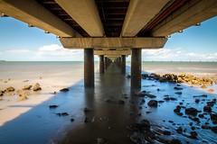 Under the boardwalk, down by the sea. 363/366 (jenniferdudley) Tags: fullframe canon5d canon5dmkiv canon summer seaside neutraldensity ndfilter longexpo longexposure beach beachside 28dec16 day362266 366the2016edition 3662016