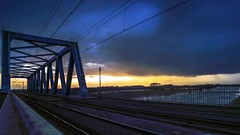 Latest timelapse of Deventer. This time the bike and train crossing over the IJssel Deventer taken on Tripod with Pentax K1 and colored and corrected in After effects (Bart Ros) Tags: overijssel ijssel river tripod line lines yellow blue bluehour sunset bridge architecture urbandecay urbanexploration urban landscape cloudscape cloud timelapse