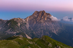 Sunrise at the Gran Sasso of Italy (Paolo Boschetti) Tags: park sunrise mountain landscapes gransasso italy