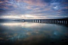 Misty River (daedmike) Tags: sunrise sunset river tay dundee bridge rail scotland mist fog haar water reflections clouds colour morning