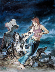 Tales of the Zombie #5 (1974), cover by Earl Norem (Tom Simpson) Tags: earlnorem pulp illustration vintage art zombie undead woman graveyard
