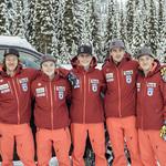 Men's BC Ski Team athletes