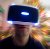 VR Future (Kurayba) Tags: edmonton alberta canada ca zoom blur pentax k1 pentaxa 20mm f28 psvr playstation vr hmd smcpa20mmf28 selfportrait self portrait bokeh christmas tree lights excitement 90s new future tech technology sony whoa affinity selection tripod blind