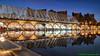 Valencia, Spain: L'Umbracle (Arboretum Promenade) over parking at the City of Arts & Sciences (nabobswims) Tags: arboretum cityofartssciences ciutatdelesartsilesciències es españa hdr highdynamicrange lightroom nabob nabobswims night photomatix reflectingpool sel18105g sonya6000 spain valencia valència
