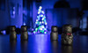 'Tis Christmas Time (relishedmonkey) Tags: nikon d5300 35mm18g teddy bear lindt statues small lights christmas tree decorative decoration chocolate design bokeh lighting night newyear blue shape look colour nigh dark minimal minimalism