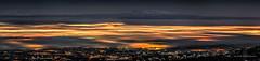 Blanket (Traylor Photography) Tags: alaska goodnight winter sleepinglady cloudy glenalps panorama weather blanket clouds highpressure mountsusitna inversion fog night citylights anchorage unitedstates us