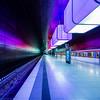 Rainbow at the MCTSiH (katrin glaesmann) Tags: hamburg tube metro ubahn station ubahnhof hvv u4 hafencityuniversität colour train