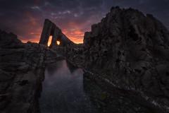 Vallina Beach (Asturias, Spain) (Tomasz Raciniewski) Tags: wide d3200 clouds pool water cantabrico seascape landscape rock sunlight atardecer sunset mar coast shore outdoor playa beach asturias vallina