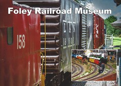 Foley Railroad Museum Postcards 2 copy (King Kong 911) Tags: postcards foley roses trains museum park bell tower heritage