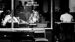 Craft And Draft Beer (Sean Batten) Tags: london england unitedkingdom gb blackandwhite bw streetphotography street nikon d800 70200 restaurant people city urban thecut