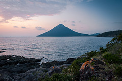 Kaimondake Volcano 開聞岳 (Chen Yiming) Tags: landscape japan japanese kyushu kagoshima asia volcano lava eruption kaimondake mount mountain satsuma ibusuki dusk bluehour nagasakibana cape peninsula sunset sunsetting pacificocean ocean sea