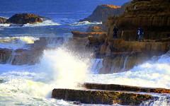 Keen ROCK FISHERMEN (Lani Elliott) Tags: scene scenic view scenictasmania ocean fishermen rockfishermen spray waves australia tasmania fishing