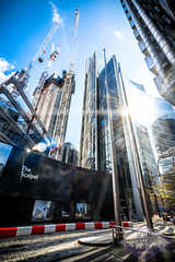 52 Lime Street (Izaak Sabo) Tags: london skyscraper limestreet 52limestreet scalpel thescalpel thecity skyline construction lensflare reflection architecture city cityscape streetscape sky towers dense willistower capital lighting sun shadows perspective vertical
