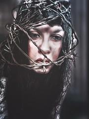 Trapped (Kat McClelland) Tags: portrait woman darkarts art