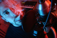 (-Antoine-) Tags: blue red portrait musician canada max studio rouge quebec montreal smoke smoking bleu qubec hiphop fumeur smoker maxime fumee musicien fume voinson qubcois quebecois montal quebecker montrealais montrealer montralais antoinerouleau