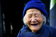 look, no eyes (phitar) Tags: china travel blue 2002 portrait people wow fun this eyes asia shot topv1111 topc75 interestingness1 beijing someone loves laughter pleasure topf500 phitar topf700  abigfave