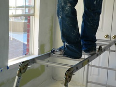 Pain-ting (cluelessblues) Tags: painting jeans house primer alexting homeimprovement psfk mycooljeans allen texas people