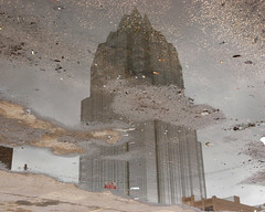 Frost Tower from a puddle