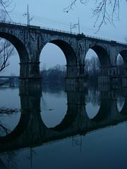 Isonzo (violaviola) Tags: fiume ponte ferroviario