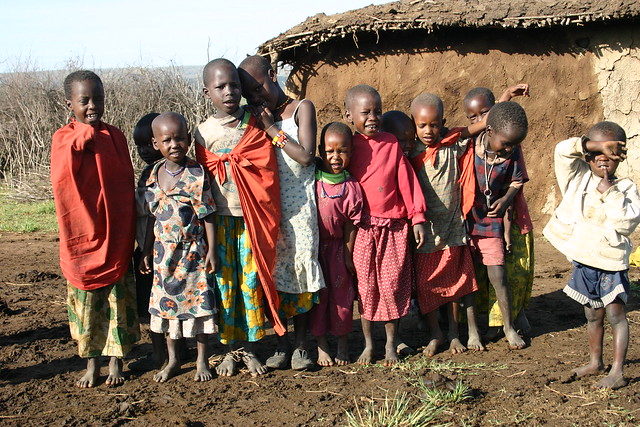 Masai Children Singing