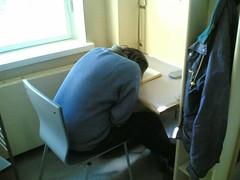 Sleeping & snoring in the library (hugovk) Tags: cameraphone 2005 sleeping topv111 suomi finland spring helsinki topv333 kallio library lifeblog topv222 200 april 100 300 helsingfors hvk 6680 snoring nokia6680 uusimaa nyland kalliolibrary msh0706 msh070620 msh0806 msh080617 msh1206 msh12061 hugovk meta:exif=none sleepingsnoringinthelibrary