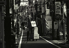 Kagurazaka (Jim O'Connell) Tags: pictures blackandwhite bw film japan darkroom tokyo availablelight kagurazaka mmdc
