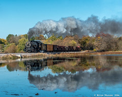Dark-Side Run-By at Beaver Dam (kdmadore) Tags: steamlocomotive steam soo1003 soo train railroad wisconsinsouthern wsor mikado sooline steamengine