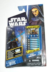 barriss offee star wars the clone wars cw50 blue and black packaging basic action figures 2010 2011 hasbro mosc a (tjparkside) Tags: barriss offee cw50 cw 50 fifty blue black packaging card tcw clone wars star jedi brain worm worms lightsaber padawan geonosian 2010 2011 basic action figure figures hasbro galactic battle unique game die dice display stand base