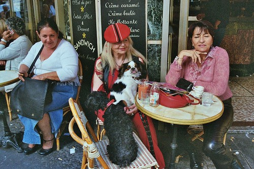 Three Parisians at cafee