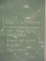 BUD'S LASERCUT (fish2000) Tags: bud lasercut pawtucket chalkboard