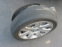 oops.  this is what happens when you drive on bald tires.