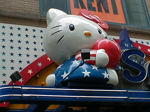 One of my favorite photos taken in New York is that of the Hello Kitty store