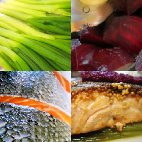 Salmón y verduras