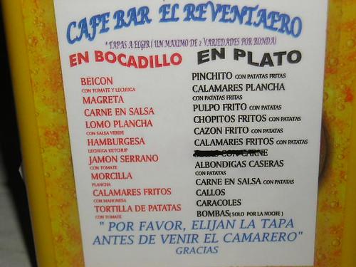 Tapas in Granada