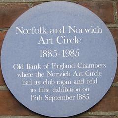 Norfolk and Norwich Art Circle 1885-1985 (Leo Reynolds) Tags: green plaque olympus squaredcircle squaredcirclexxx c770uz f32 iso64 plaquenorwich 0ev 63mm hpexif 0017sec plaques2 xsquarex xratio11x xnorwichsqx sqset040 xleol30x
