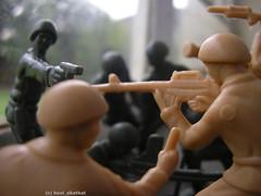 Human and amimal rights (kool_skatkat) Tags: topv111 army topv555 topv333 gun pentax topv444 topv222 human rights conflict soldiers guns amimal koolskatkat 74points