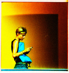 Hold on.  I need to answer this. (sam b-r) Tags: portrait topf25 manipulated krista sambrimages