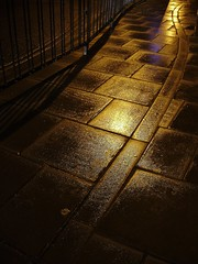 121 Paved with Gold (Auntie P) Tags: road night geotagged gold interesting pavement sold ground sidewalk lookdown vectis isleofwight paving dilo grounded iow dilomar05 themenight geo:lat=506833 geo:lon=013000 challengeyouwinner auntiepexplored dwcffnight